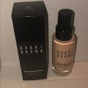 Bobbi Brown Skin Foundation SPF 15 Ivory 0.75 New